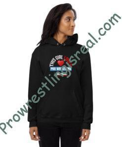 This Girl Loves Pro Wrestling Unisex fleece hoodie