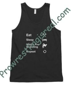 Eat Sleep Watch Pro Wrestling Repeat Classic tank top (unisex)