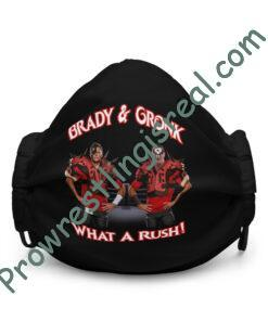 Brady & Gronk: What A Rush Premium face mask