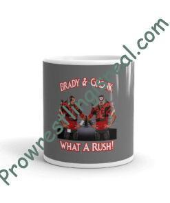 What A Rush: Brady & Gronk White glossy mug