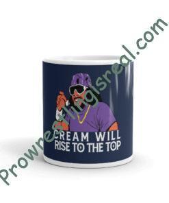 Cream Will Rise (Macho Man Purple ) White Glossy Mug