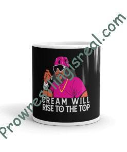Cream Will Rise To The Top (Macho Man Pink) White Glossy Mug