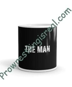 The Man White glossy mug